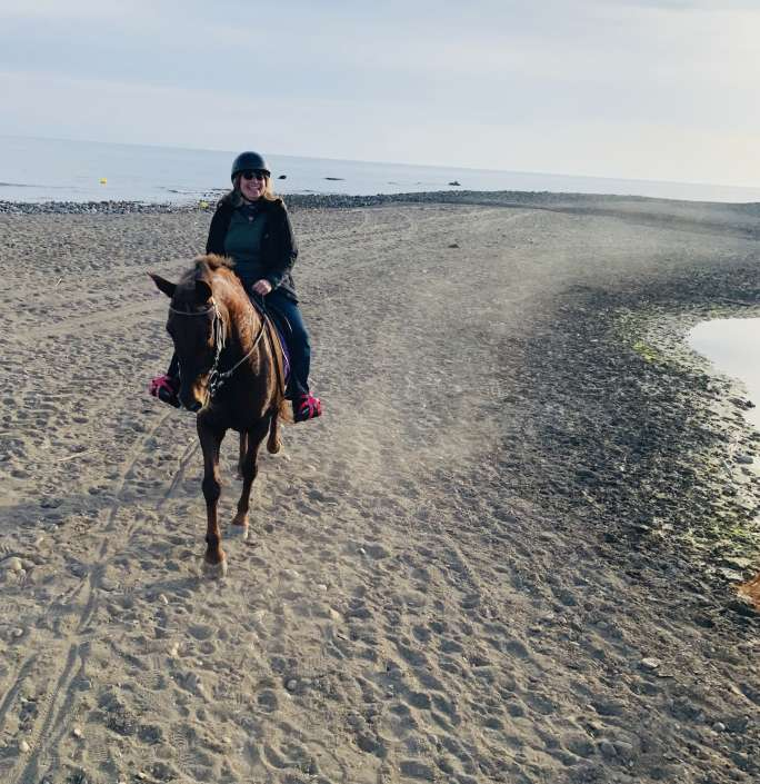 Horse riding on the beach in Estepona Ranch Siesta Los Rubios