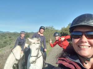The Beatles bootcamp fabulous four horses at Ranch Siesta Los Rubios John Paul Ringo and George