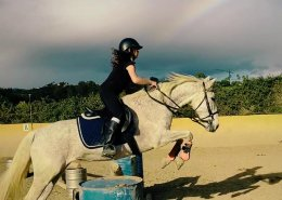 Jumping lesson childrens riding lessons at Ranch Siesta Los Rubios Estepona